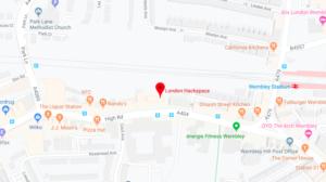 Map of Wembley London Biohackspace